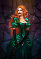 Redhead vampire by anndr