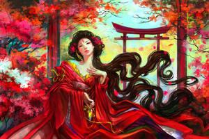 Tamamo-no-Mae by anndr