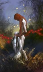 Nightfall garden by anndr