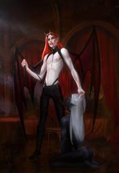 Inkubus and dark elf by anndr
