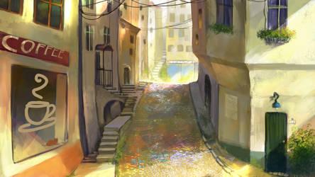 Windside VN street background by anndr
