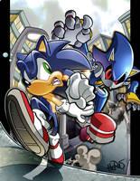 Sonic versus Metal by herms85