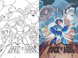 Mega Man 20 Cover by herms85
