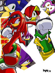 Knux and his Peeps by herms85
