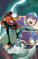 Mega Man 27 Cover by herms85