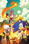Sonic the Hedgehog (IDW) #4 Cover by herms85