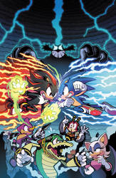 Sonic the Hedgehog (IDW) 06 Cover by herms85