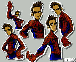 Sketches-Spidey Unmasked by herms85
