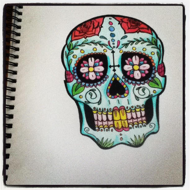 Tattoo Design Mexican Day Of The Dead Mask By Lookaliveholly On