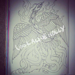 FengHuang Lineart by LookAliveHolly