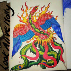 FengHuang Tattoo Design by LookAliveHolly