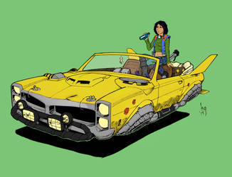 Sushi's ride Colored by straydiver