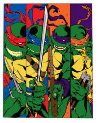 Ninja Turtles Color by straydiver