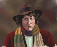 the Fourth Doctor by skullclutter