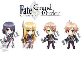 Fate/Grand Order Chibi set by Erra616
