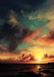 Sunset by megounette