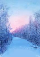 In winter by megounette