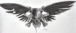 skull an cross bones by twyliteskyz
