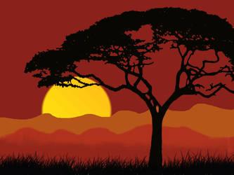 African night jungle landscape by abhidhanbad111
