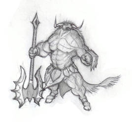 Minotaur by krigg