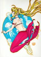 The pink mermaid by RollingPug
