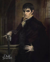 Dark Shadows Barnabas Portrait by deanhsieh