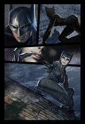 Batman and Catwoman comic page by deanhsieh