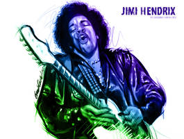 Jimi Hendrix by GarciaCruz