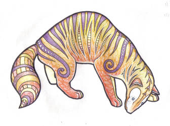 Stripey carnivore coloured by Weaslet