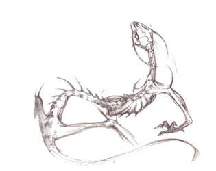 Skeletal beast by Weaslet