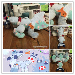 Toyhound plush WIP by Appellemoigrrrr