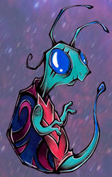 Random space turtle by Loony-Madness