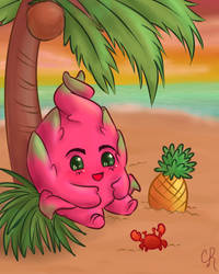 Cactusberry Froyo- CB Mascot by Nerinna
