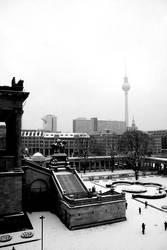 Snowy cityscape by Aeoliane