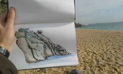 Sketching Arenys de Mar by rMora