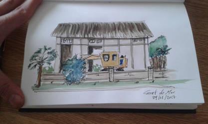 Sketching in Canet de mar by rMora