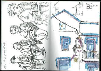 Sketching Sant Iscle de Vellalta by rMora