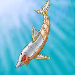Steampunk Dolphin by Pumadragon