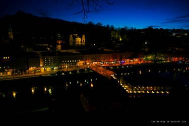 Salzburg At Night by FabianFynn