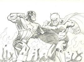 Avengers Vs Dark Knight Returns by guinnessyde