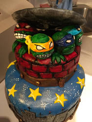 Ninja Turtle cake by GrantCunningham