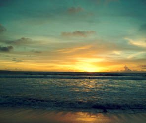 Bali - Kuta Beach Sunset by GraphicIdentity