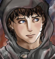 -Alone and afraid- Frodo by korone