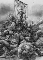 Enthroned Marine by tacticangel