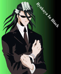 Byakuya in Black :3 by Mifang