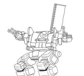 jagermech line art by ViceWorks