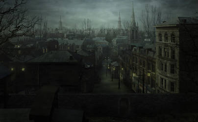 Greenwich Village NY - Lovecraftian Concept Art by mcrassusart