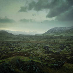 Snaefellsness Matte Painting by mcrassusart