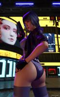 Motoko Kusanagi - 2 by johngate2014