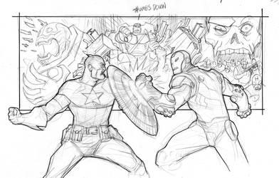 Marvel Box art sketch by Devilpig